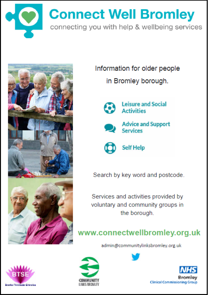 Connect Well Bromley flyer image